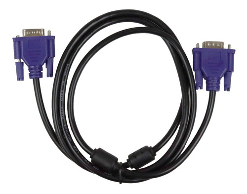 Imagen 1 de 9 de Cable Vga A Vga Ferrita Con Fibra Cable Resistente 18-6174