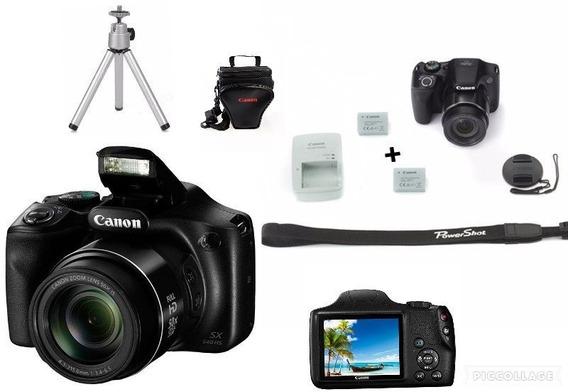 Câmera Canon Sx540 Hs Wi Fi+64gsd+bolsa+tripé+bateria Reseva