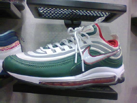 Tenis Nike Air Max 98 Verde/branco/vermelho Nº42 Original!!!