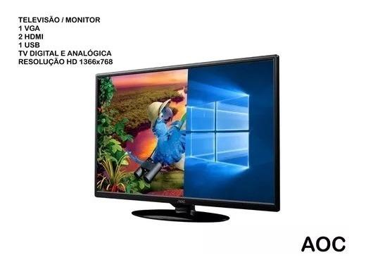 Tv Led Aoc 24 Polegadas Vga Hdmi Usb Tv Monitor Promoção