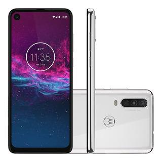 Smartphone Motorola One Action 128gb Tela 6.3 Câmera Tripla 16mp Selfie 12mp Android 9.0 Pie Anatel