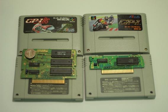 2 Jogos Moto Gp-1 Originais Para Super Nintendo Snes Famicom