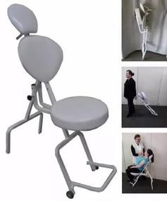 Cadeira Para Maquiagem - Cor Preto - Frete Gratis
