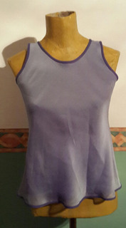 Top Gasa Doble.violeta Y Lila.t S.medidas.san Isidro