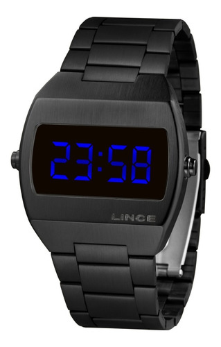 Relogio Lince Mdn4621l Dxpx Digital Black Led Azul
