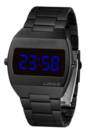 Relogio Lince Mdn4621l Dxpx Digital Black Led Azul