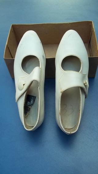 Antiguos Zapatos De Comunión De Dama Numero 33