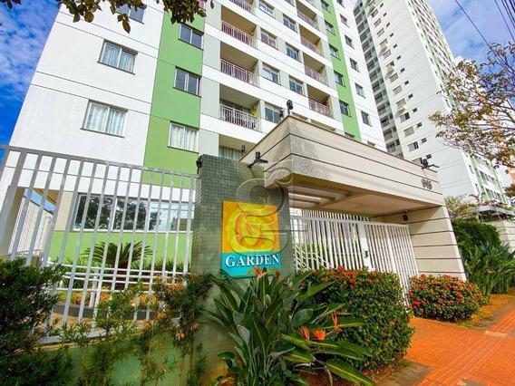 Apartamento Com 3 Dormitórios Inteiro Mobiliado Para Alugar, 66 M² Por R$ 1.200/mês - Edifício Garden Araucária - Londrina/pr - Ap0610