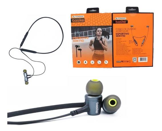 Fone De Ouvido Sem Fio Auricular Esportivo 4.2 Basike N0009