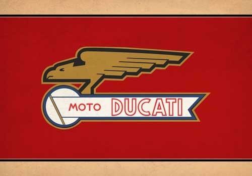 Bandeira Moto Ducati -  - Em Oxford 100% (selada A Laser)