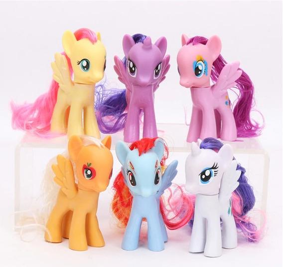 Kit 6 Mini Bonecos Figuras My Little Poney My Pony 8cm