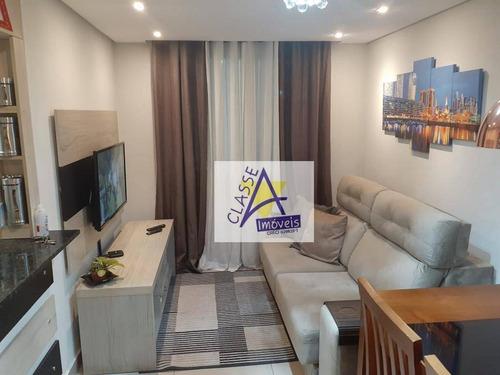 Apartamento Com 2 Dormitórios À Venda, 45 M² Por R$ 196.500 - Parque São Vicente - Mauá/sp - Ap0715