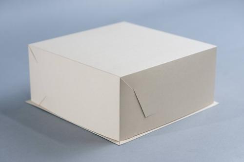 Imagen 1 de 3 de Caja Base Bandeja + Tapa 26 X 26 X 12 Cm (x50 U.) Tortas Tartas Postres Semifrios - Bauletto