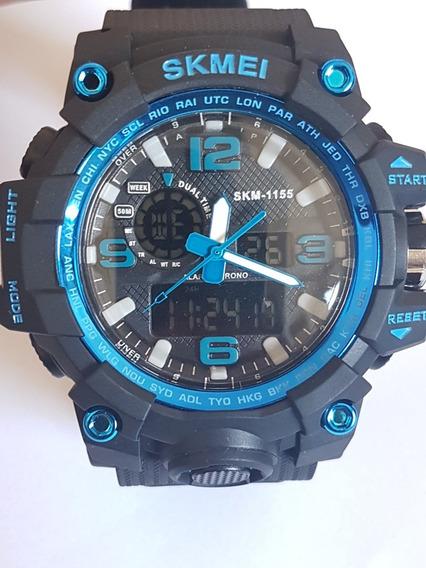 Relógio Skmei Resistente A Água Azul Novo