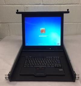 Console 1u Rack Ibm 03n6321 Com Teclado Monitor 17 Kvm