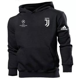 Moletom Juventus Blusão Moleton Masculino Casaco Canguru