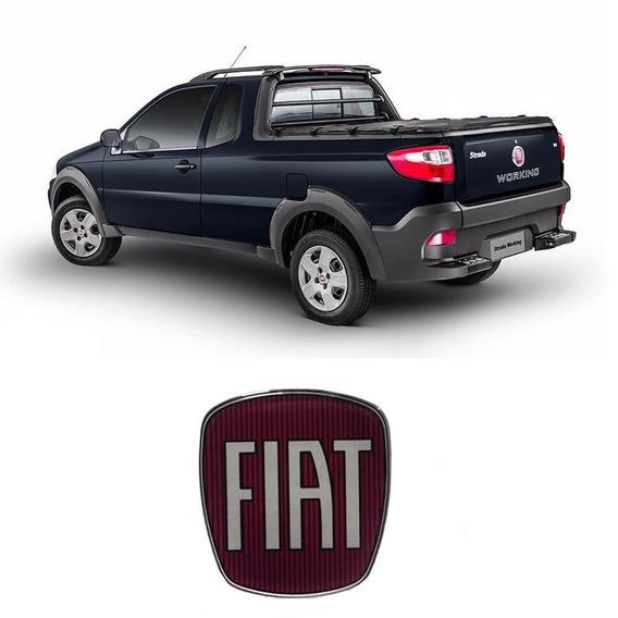 Emblema Maçaneta Tampa Traseira Fiat Strada Resinado