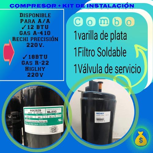 Compresor 12 Btu 220voltios