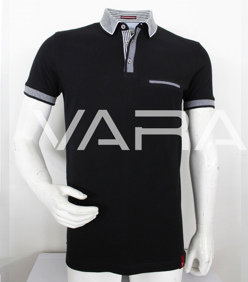 Playera Hombre Tipo Polo 998 Slim Fit Moda Varanasi