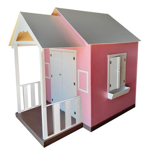 Casinha De Brinquedo Com Varanda Rosa - Criança Feliz
