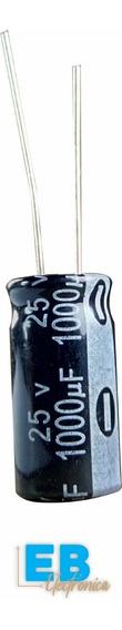 Capacitor Electrolitico 1000uf X 25v 105° 10x20mm X 10 Un.