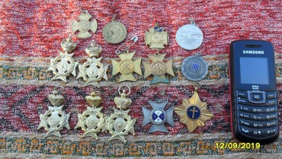Lote De Antiguas Medallas Condecoraciones Regata Remo