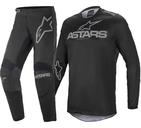 Kit Calça Camisa Offorad Alpinestars Fluid Graphite 21 Cross