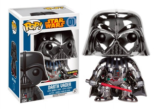 Funko Pop Darth Vader Chrome Exclusivo Saharis Nuevoorigina