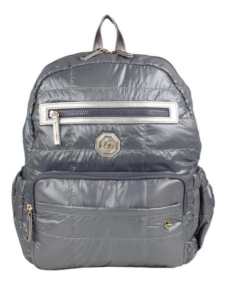 Pañalera Backpack Gris Cloe Mom & Baby