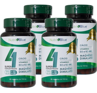 4 Magnesio Dimalato + Calcio + K2 + D3 Nutriblue Lair.