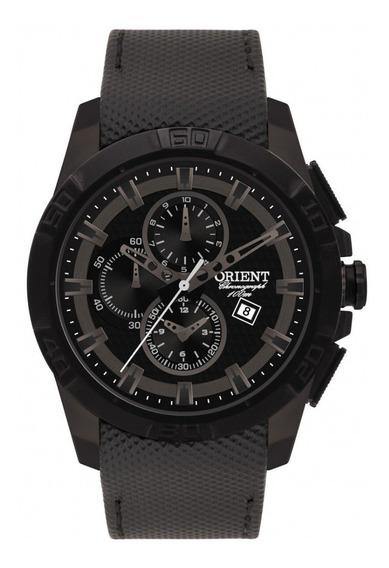 Relógio Orient Mtscc016 Mostrador Preto Pulseira Couro