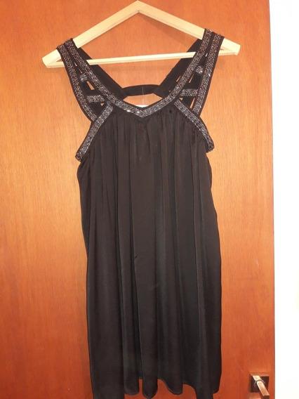 Vestido Negro, Bordado, Corto Para Fiesta. Sin Uso