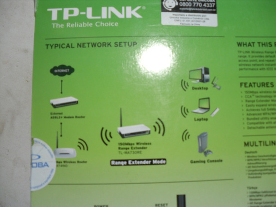 Extensor De Sinal Wireless De 150mbps Tl-wa730re - Tp-link