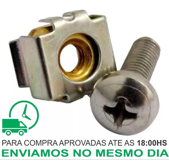 100und - Kit Porca Gaiola + Parafuso (rack Telecom Servidor)