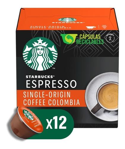 Imagen 1 de 10 de Cápsulas Starbucks Single Origin Colombia Espresso