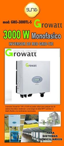 Energía Solar Inversor De Red Grid-tie 3000w Growatt