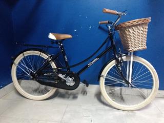 Bicicleta Musetta Rod. 24 Vintage Canasto Env Grat Cuotas Si