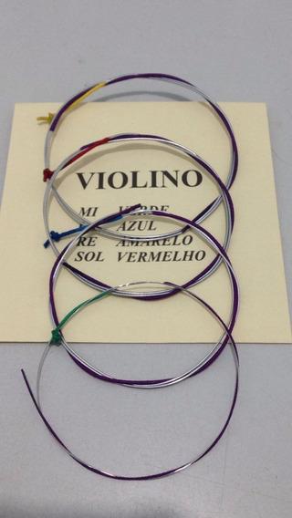 5 Jogos Corda Violino 4/4 Mauro Calixto Excelente Cordas***