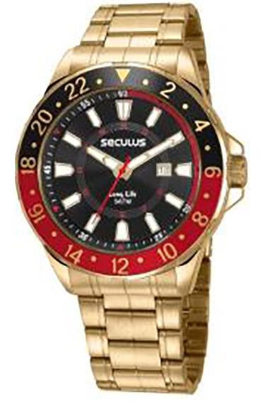 Relógio Seculus Long Life Masculino 23653gpsvda2