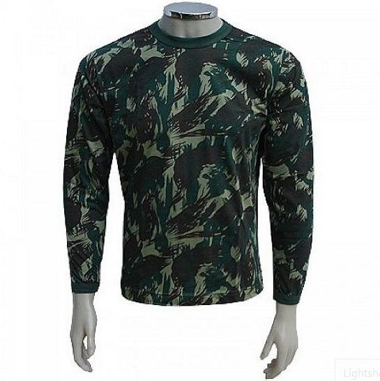 Camiseta Manga Longa Camuflado Militar/urbano