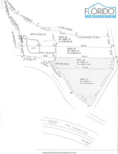 Imagem 1 de 2 de Áreas À Venda  Em Atibaia/sp - Compre O Seu Áreas Aqui! - 1380150