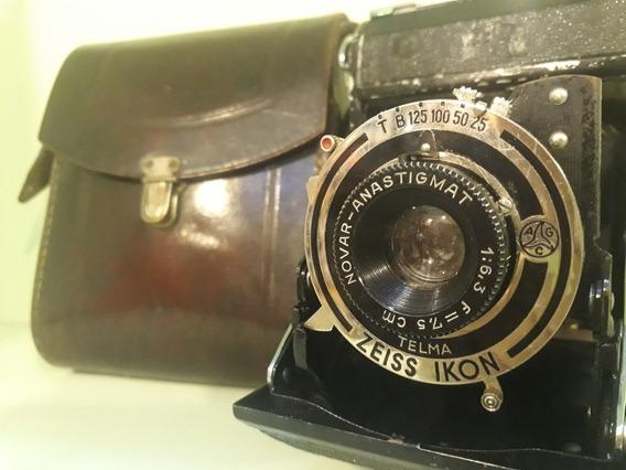 Camera Analógica Fole Zeiss Ikon Telma Antiga Alemã