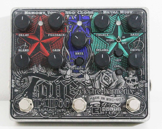 Electro-harmonix Tone Tatoo Delay, Chorus Distortion Top