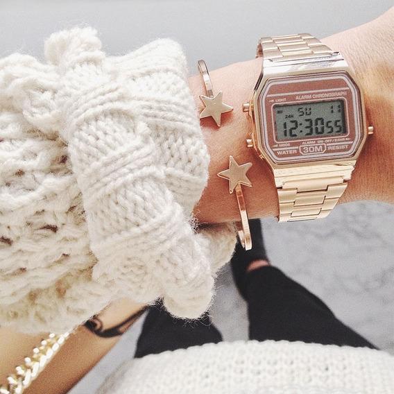 Relógio Feminino De Pulso Retro Vintage Clássico