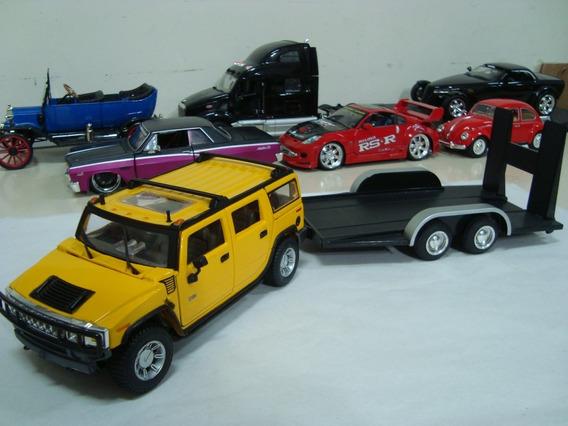 Miniatura Kit Hummer H2 + Carretinha 1/24 Maisto #71109