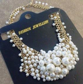 ffddd92596cf Maxi Collar Perlas Gris - Joyería en Mercado Libre México
