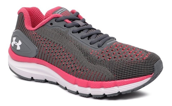 Tênis Under Armour Ua Charged Skyline Feminino Cinza/rosa