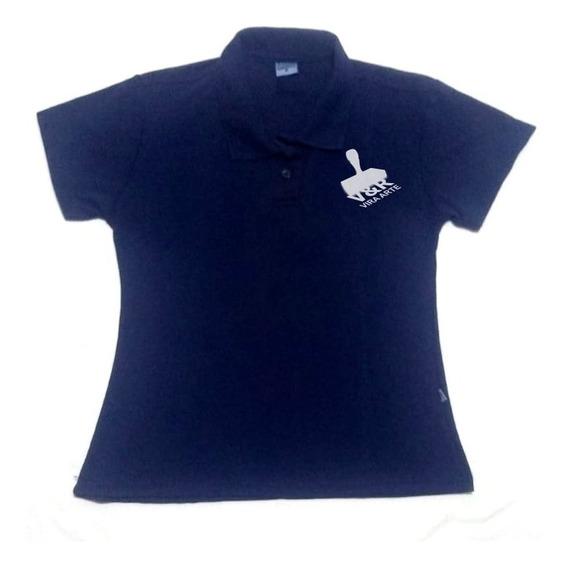 Camisa Polo Personalizada Feminina -fazemos Qualquer Estampa