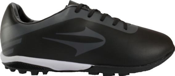Botines Topper Papi Fútbol Cuero Negro Megacaseros