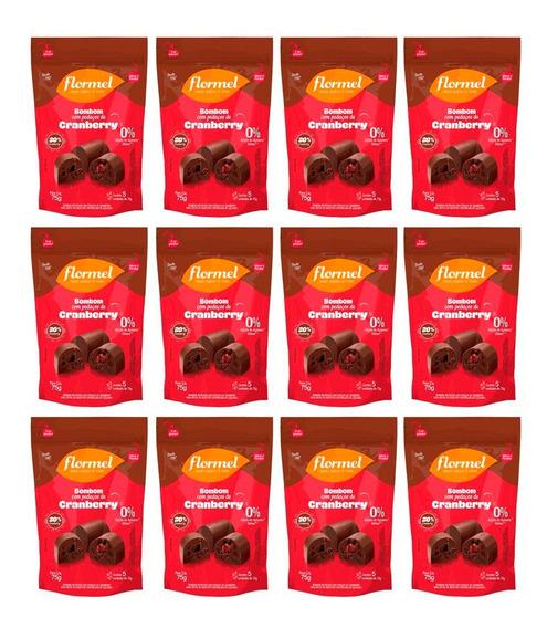 12 Bombom Com Pedaços De Cranberry Flormel